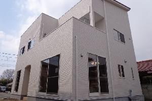 白い壁が美しく映える洋館風ハウス2